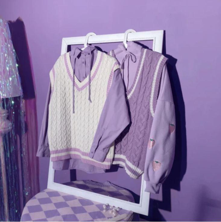 17kg パープルシャツ+スクールベスト N1932S